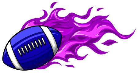 American football ball on white background vector Illusztráció