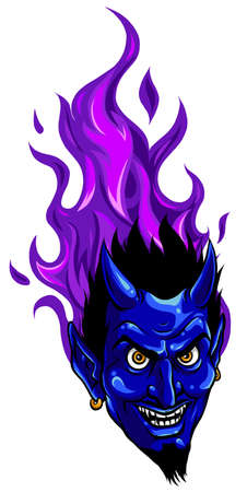 Evil burning Halloween symbol. Illustration vector image