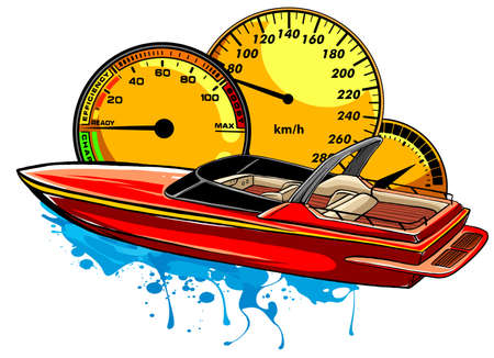 graphics Speed boat race vector illustration art