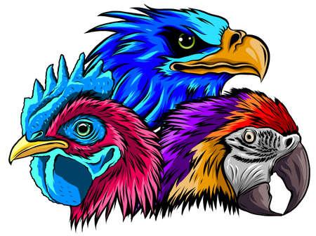 vector illustration of mascot of rooster head Illusztráció