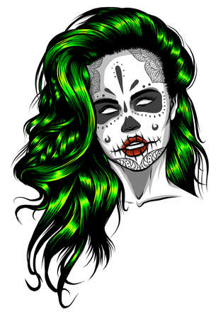 Life after death The skull of a long-haired woman
