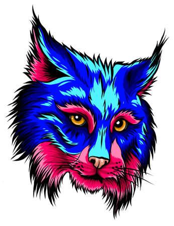Lynx head mascot logo vector illustration graphics