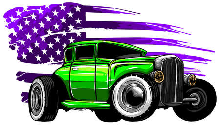 vector graphic design of an American muscle car