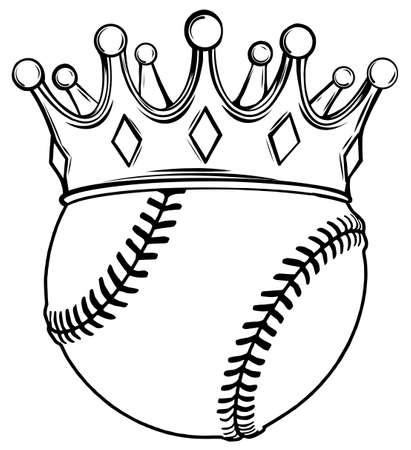 Baseball ball on a white background vector illustration