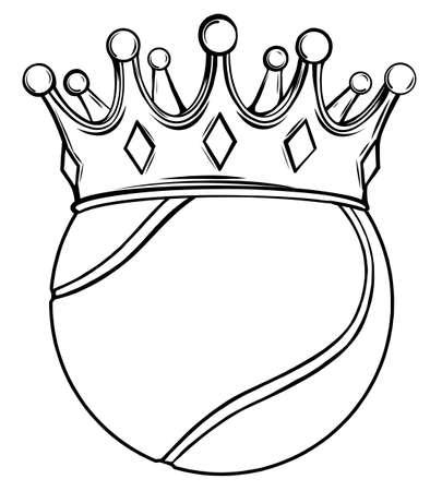 Tennis ball on white. Vector illustration design Stock Illustratie