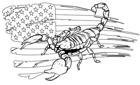 realistic scorpion cartoon vector illustration design art Stock Illustratie