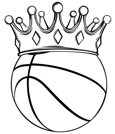 Basketball ball. vector illustration isolated on white background.