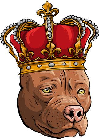 vector Dog illustration king in white background