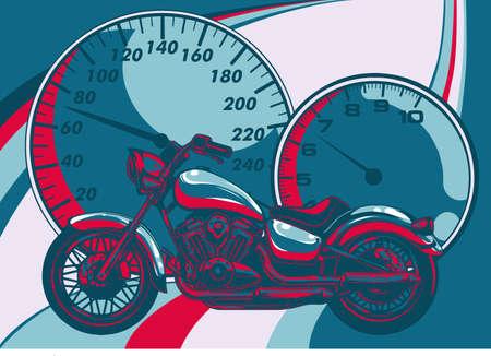 a Motorcycle racer sport vector illustration design 向量圖像