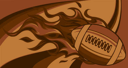 super fast rugby ball with fire vector illustration Vector Illustration