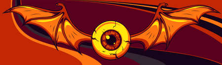Vector illustration of Flying Eyeball design art 向量圖像