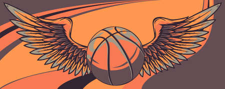 Basket ball with Wings vector illustration graphic 向量圖像