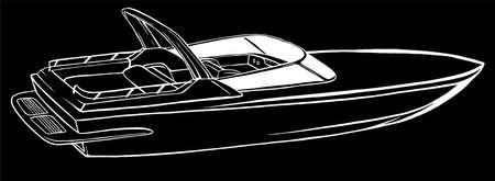 silhouette boat Icon Vector Illustration graphics art