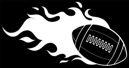super fast rugby ball silhouette in black background