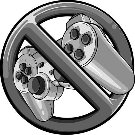 symbol of prohibition Gaming controller vector illustration