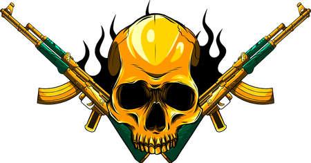 vector Skull with machine guns