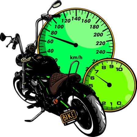Vector Custom Bike Motorcycle Graphic Illustration.