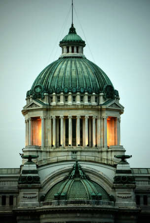 marble palace: Dome of annanda samakhom throne hall a marble palace in thailand