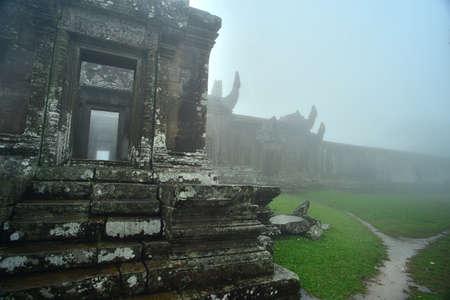 wat: Rainy day at Angkor Wat