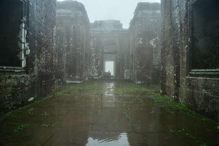 Día de lluvia en Angkor Wat Foto de archivo - 46151331