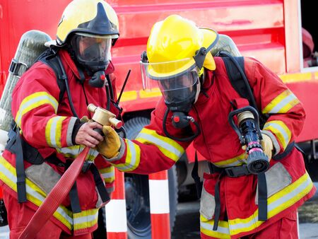 Fire departments and emergency response teams will conduct disaster preparedness drills Reklamní fotografie