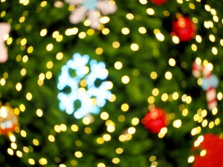 Marry Christmas and Happy New Year blur background