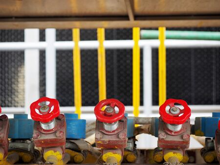 Industrial high pressure gas, pipelines and valves on factory