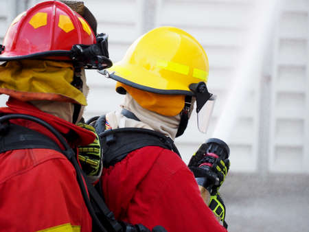 Fire departments and emergency response teams will conduct disaster preparedness drills Фото со стока