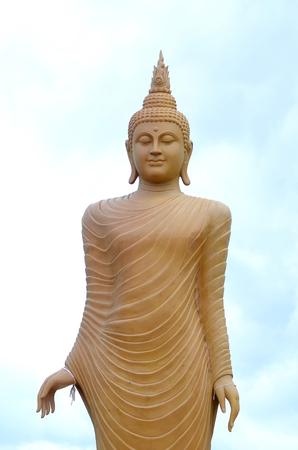revere: Big golden buddha statue in Thailand Stock Photo