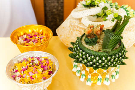 bowl of betel nuts use for Thai wedding ceremony Stock Photo - 17132976