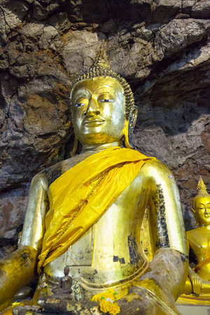 image of buddha in the cave  phetchaburi Thailand photo