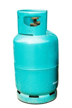 propane tank: blue gas tank