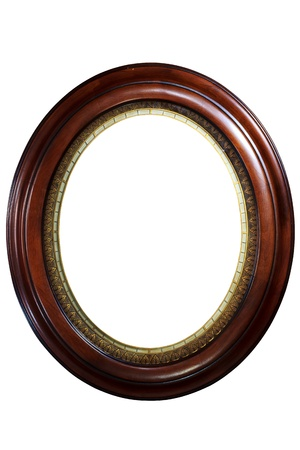 Luxury round wooden frame Stock Photo - 9631383