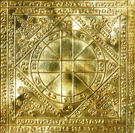 talisman: Gold Talisman of rich closeup  Stock Photo
