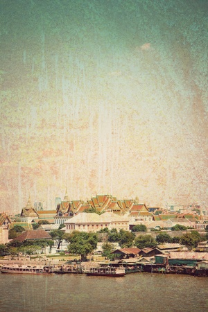 rusty grunge retro vintage old  paper Bangkok background photo