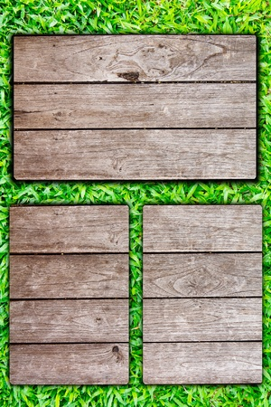 wooden post on the grass Stock Photo - 9708767