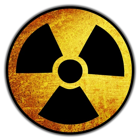 nuke: grunge retro vintage rusty old paper nuke sign background