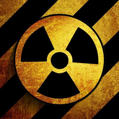 nuke: grunge retro vintage rusty old nuke sign background