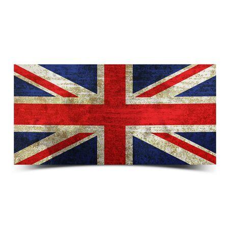 drapeau angleterre: grunge rétro vintage rouillé old England flag Banque d'images