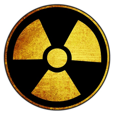 grunge retro vintage rusty old nuke sign background  Stock Photo - 9708609