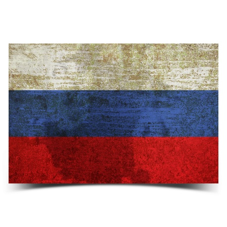 grunge retro vintage rusty old Russia flag photo