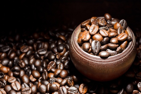 Roast Coffee bean background
