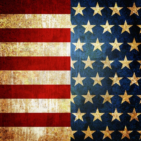 Grunge metal rusty america pattern independent day Stock Photo - 9816686