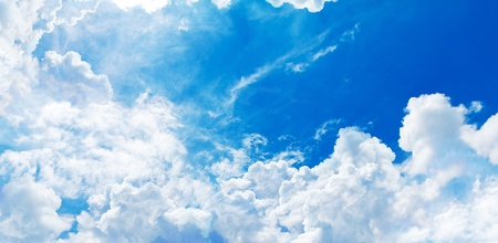 cloudscape: blue sky and white cloud