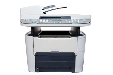 function: A multi function printer isolated  Stock Photo