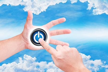 dictatorial: punto di mano al pulsante di accensione sul cielo