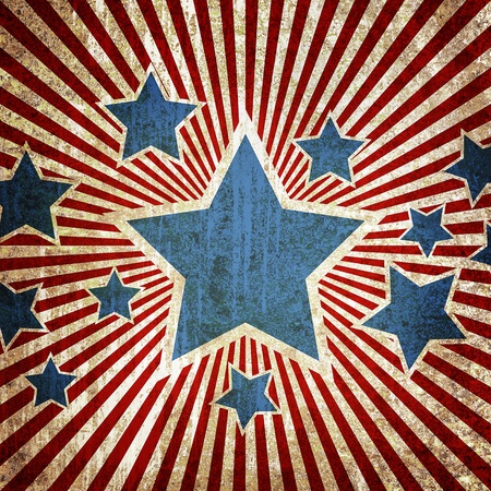 july: Grunge star metal rusty america pattern independent day