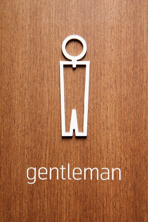 Toilet signs men photo