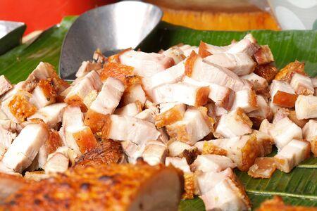 pork fried ,Thai food photo