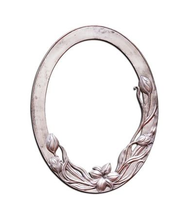 Oval frame flower pattern  photo